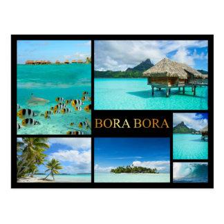 Cartão luxuoso da colagem de Bora Bora