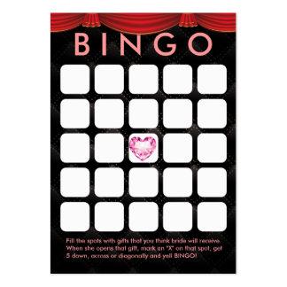 Cartão luxuoso do Bingo do chá de panela 5x5 do Cartão De Visita Grande
