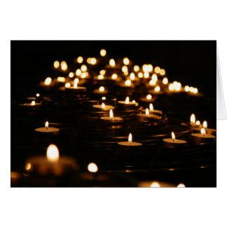 Cartão Luz da vela do divino
