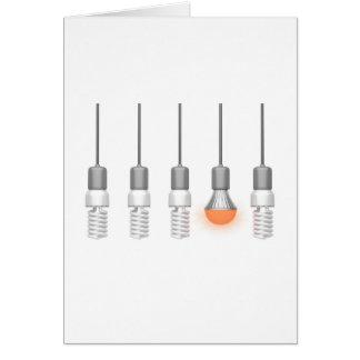Cartão Luz de incandescência original do diodo emissor de