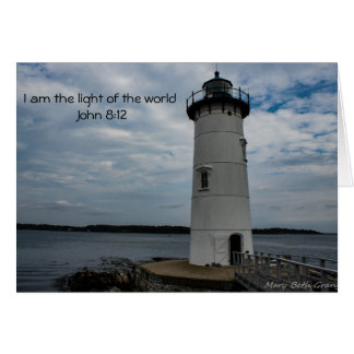 Cartão Luz de Jesus do mundo