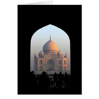 Cartão Luz de Taj Mahal da foto da arquitetura de India