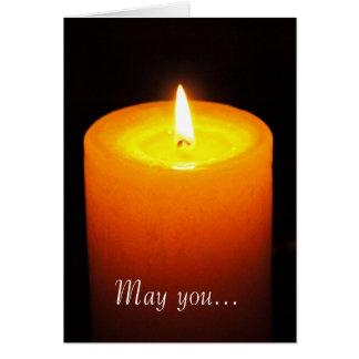 Cartão Luz de vela - desejos do Natal