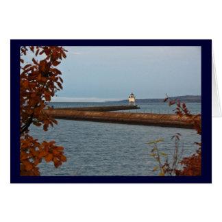Cartão Luz do cais de dois portos