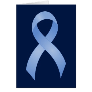 Cartão Luz do cancro da próstata - fita azul