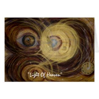 """Cartão Luz do céu, """"luz do céu """""""