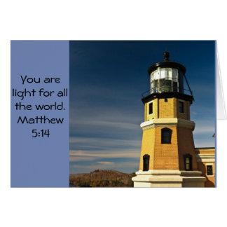Cartão Luz do mundo