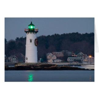 Cartão Luz do porto de Portsmouth decorada