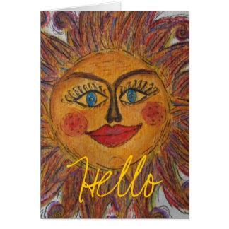 Cartão Luz do sol