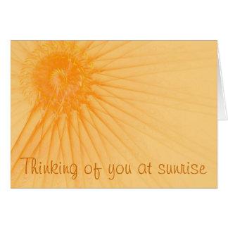 Cartão Luz do sol & raios
