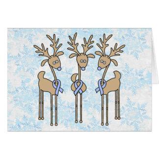 Cartão Luz - rena da fita azul