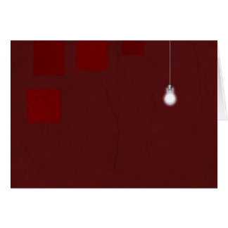 Cartão Luz vermelha da sala