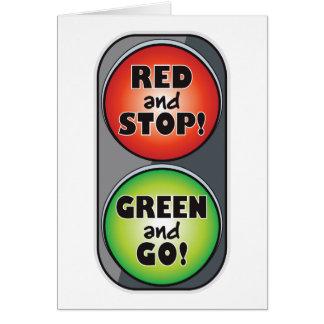 Cartão Luz vermelha - luz verde