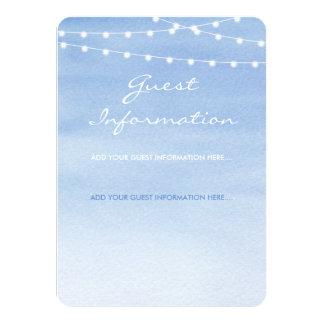 Cartão Luzes azuis Glaucous da corda da aguarela