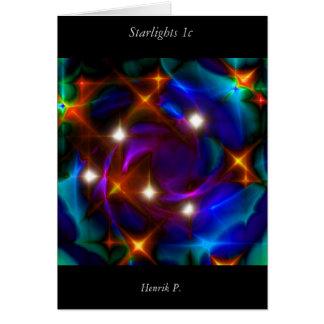Cartão Luzes das estrelas #1c (cartão)