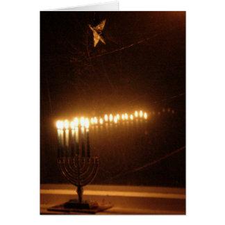 Cartão Luzes de Hanukah