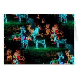 Cartão luzes de Natal