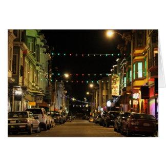 Cartão Luzes de Natal na praia norte, San Francisco, CA