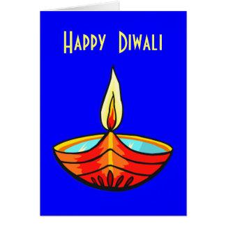 Cartão Luzes do festival de Diwali
