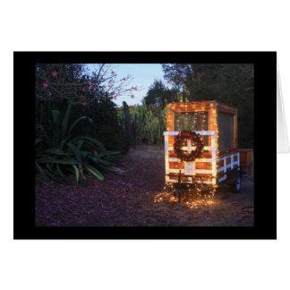 Cartão Luzes do reboque do Natal