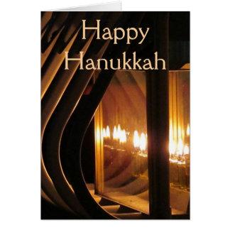 Cartão Luzes felizes de Hanukkah
