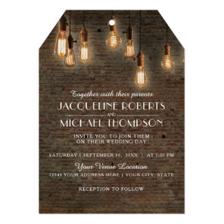 Cartão Luzes industriais de Edison do tijolo do armazém