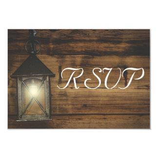 Cartão Luzes rústicas elegantes da lanterna de RSVP
