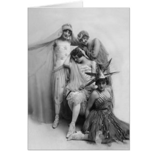 Cartão M.Morris, F.Cripps, K.Laurell, F.White