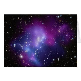 Cartão MAC J0717 do conjunto da galáxia