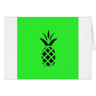 Cartão Maçã do pinho preto no verde