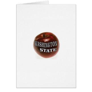 Cartão Maçã do vermelho do estado de Washington