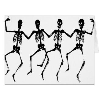 Cartão Macabramente de Danse - esqueletos