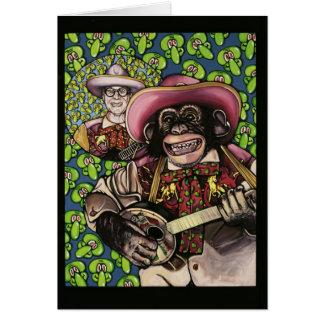 Cartão macaco 1 do banjo