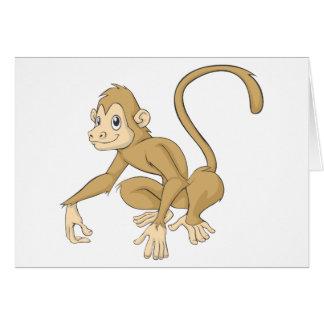 Cartão Macaco amigável