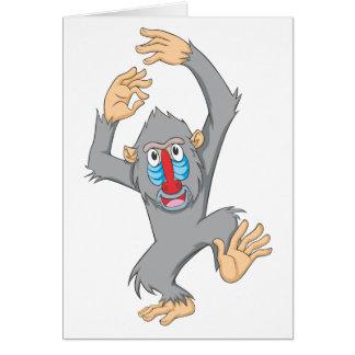 Cartão Macaco feliz de Mandrill