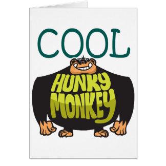 Cartão Macaco Hunky legal