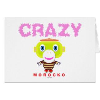 Cartão Macaco-Morocko Louco-Bonito