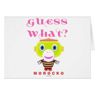 Cartão Macaco-Morocko Que-Bonito da suposição