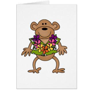 Cartão Macaco tropical de Luau