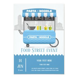 Cartão Macarronete da massa da rua da comida