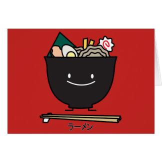Cartão Macarronetes do japonês da alga da carne de porco