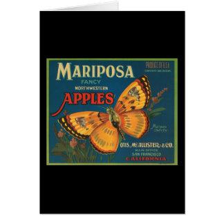 Cartão Maçãs do noroeste extravagantes de Mariposa