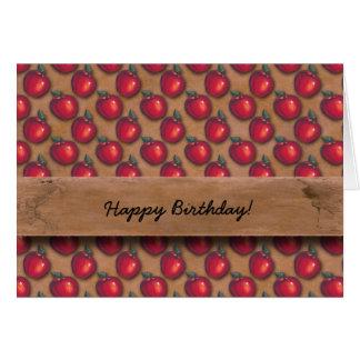 Cartão Maçãs vermelhas Brown