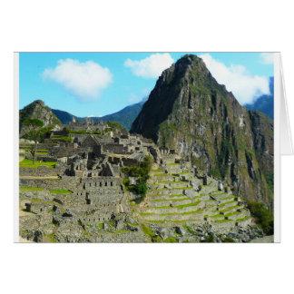 Cartão Machu-Picchu