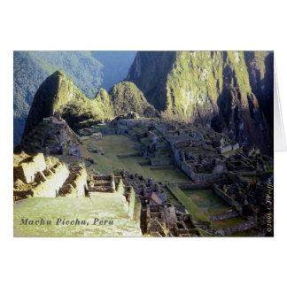 Cartão 'Machu Picchu em Dawn