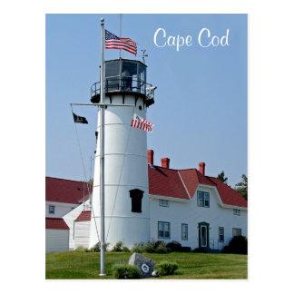 Cartão maciço do farol de Cape Cod Chatham Cartões Postais