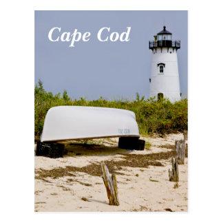 Cartão maciço do farol de Cape Cod Edgartown