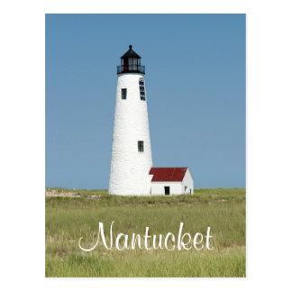 Cartão maciço do farol de Cape Cod Nantucket