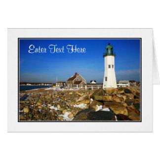 Cartão maciço do farol de Cape Cod - personalize