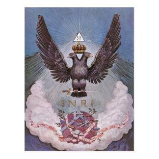 Cartão maçónico do simbolismo